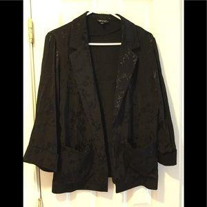 Topshop jacquard kimono blazer